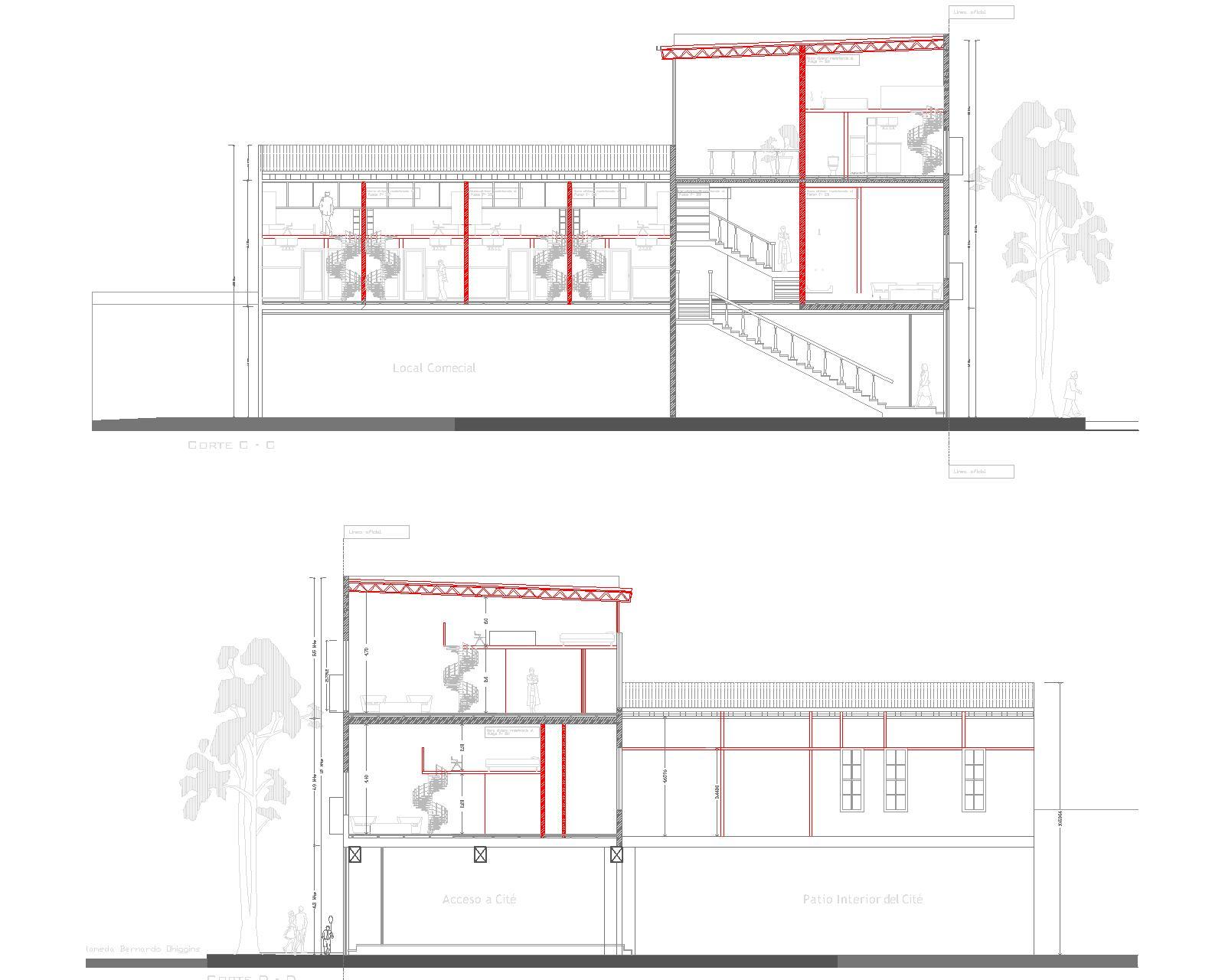 Edificio loft alameda 2532 2552 osmosis arquitectura - Viviendas tipo loft ...